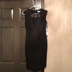 NWT knee length black Calvin Klein dress